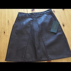 Zara (new with tags) Brown vegan leather skirt